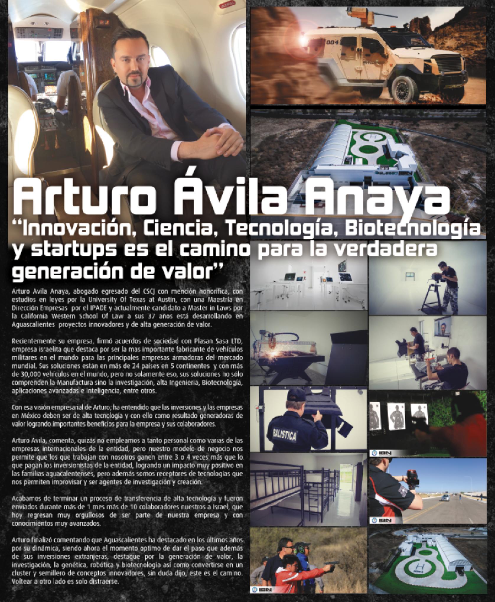 NOTA A ARTURO ÁVILA ANAYA, MBA EN REVISTA BLANCO Y NEGRO 27 DE MAYO 2016