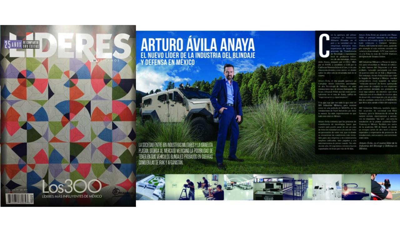 ARTURO AVILA ANAYA EN LOS 300 LIDERES MAS INFLUYENTES DE MÉXICO JULIO 2016